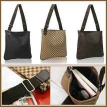 PU Leather Unisex Computer Laptop Messenger Travel Shoulder Tote Bag in 3 Colors image 5