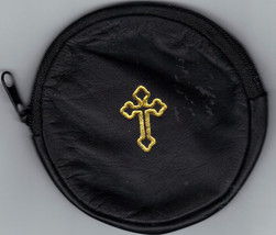 Rosary Case - Black - Round