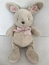 "Carter's Baby Plush Bunny Rabbit Pink Rattle Gingham Bow 11""  - $23.79"