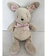 """Carter's Baby Plush Bunny Rabbit Pink Rattle Gingham Bow 11""""  - $23.79"""