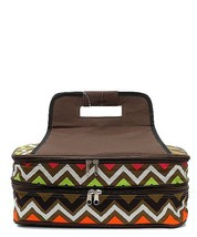 BROWN MULTI CHEVRON PRINT INSULATED CASSEROLE C... - $39.95