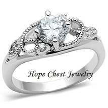 Garland Design Solitaire Cubic Zirconia Engagement Ring SIZE 9 - $12.98