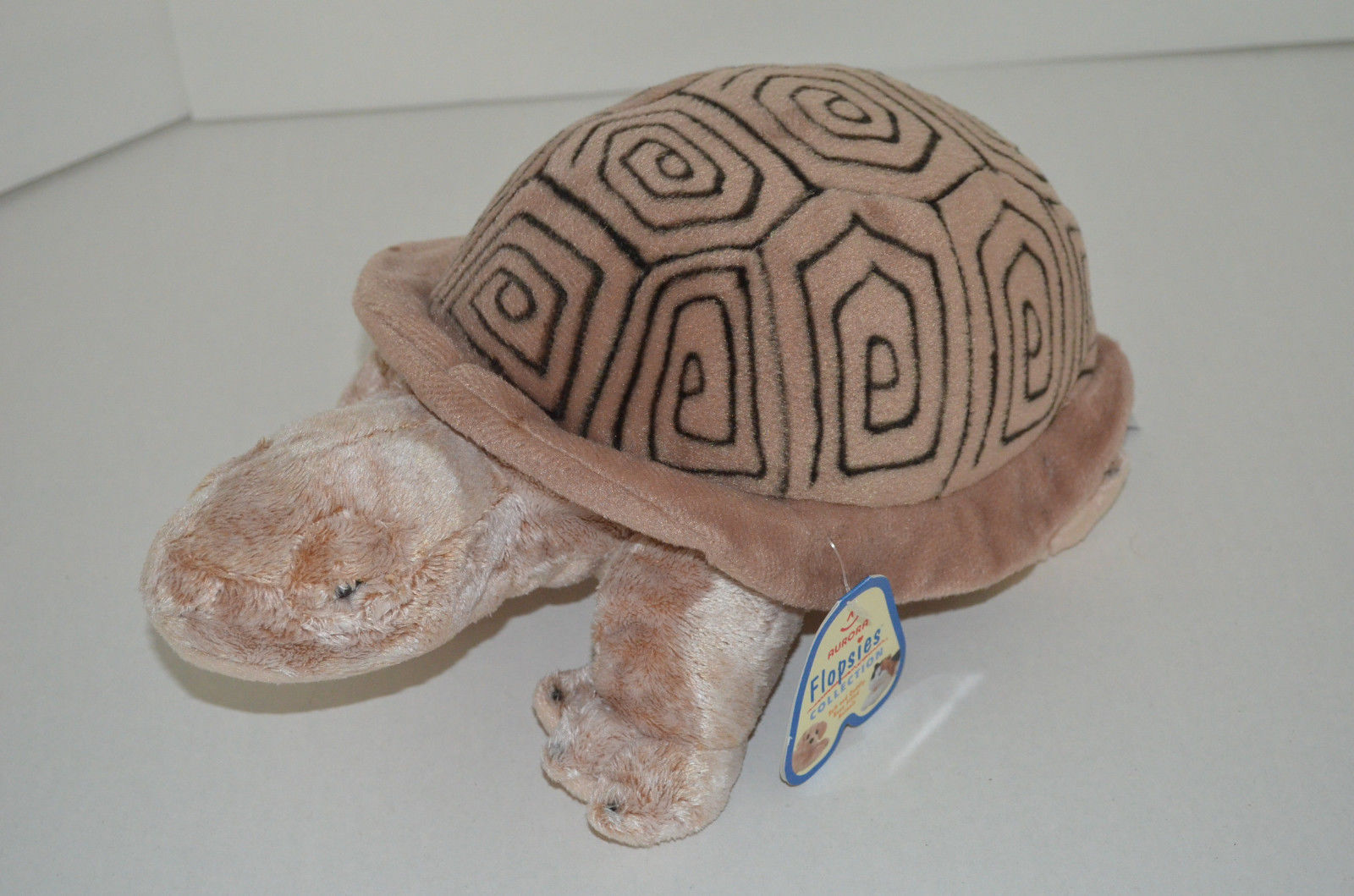 "Primary image for Aurora Flopsies Sandy Turtle Plush Brown Bean Bag 14"" NEW"