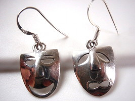 Comedy and Tragedy Theater 925 Sterling Silver Dangle Earrings New - $34.32