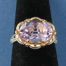 Tacori 18k925 Color Medley Rose Amethyst Ring 925 18k Rose Gold Sz 7 NWO... - $578.19