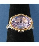 Tacori 18k925 Color Medley Rose Amethyst Ring 925 18k Rose Gold Sz 7 NWO... - $578.19