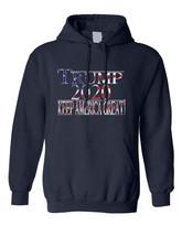 Adult Hoodie Trump 2020 Keep America Great Love USA President Top - $29.94+