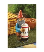 Buddy Beer Gnome Beverage Can Novelty Holder Picnic Grilling Barware Acc... - $23.45
