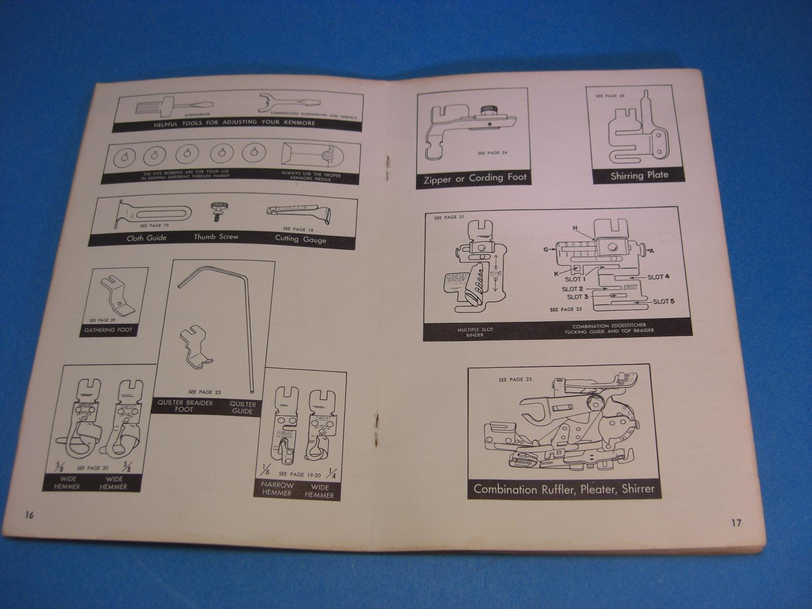 sear kenmore sewing machine manual