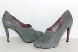 Luxury Rebel Lisette Stone Suede Chocked Pumps size 41M New with Box - $37.41
