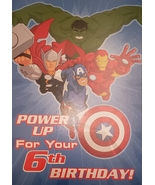 """Avengers Greeting Card Birthday """"Power Up For Your 6th Birthday"""" - $3.89"""