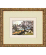 4 Currier Ives Prints American Homestead Four Seasons - $197.99