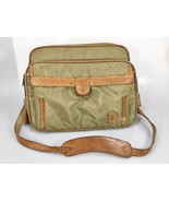 Hartmann Olive Green Nylon Tan Leather Carry-on Overnighter Luggage Tag ... - $83.30