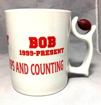Football mug 7 National Championships & counting Bud Barry Bob Oklahoma - $4.94