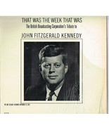 """Decca LP Record DL 9116: """"That Was The Week That Was"""" BBC Tribute To JFK - $3.50"""