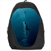 backpack school bag jaws shark swimmer surfer horror meg megalodon - $39.79