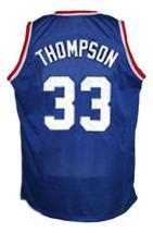 David Thompson #33 Denver Aba Retro Basketball Jersey New Sewn Blue Any Size image 4