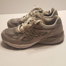 New Balance 990v4 W990GL4 Running Shoes Sneakers Suede Size 8 gray white - $59.00