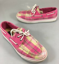Sperry Top-Sider Womens 9 M Biscayne Hot Pink Silver Sparkle Boat Shoes ... - $32.83