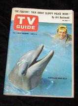 Flipper Fugitive buchwald Tv Guide june 1965 - $14.99