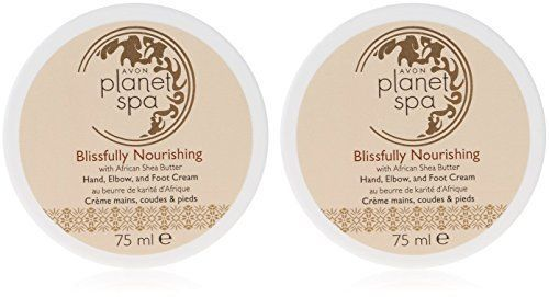 2 x Avon Planet Spa Blissfully Nourishing Shea Butter Hand, Elbow and Foot Cream