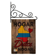 Country Colombia Hogar Dulce Burlap - Impressions Decorative Metal Fansy... - $33.97