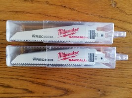 "50 Milwaukee Wrecker Cobalt Sawzall Reciprocating Blades 6"" X 8TPI 48-00-8701 - $64.99"