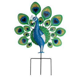 Peacock Lawn Stake by Maple Lane Creations