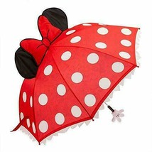 NWT Disney Parks Minnie Mouse Red Bow and Polka Dots Umbrella - $29.69