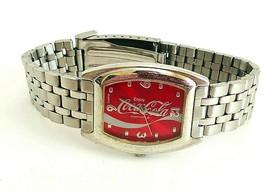 Coca Cola Silver Tone Mens Wrist Watch - $49.99