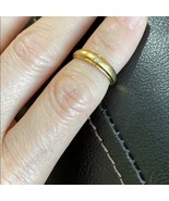 14K Solid Real Gold Yellow Diamond Wedding Band Engagement Ring 3.5 7.25... - $314.82+