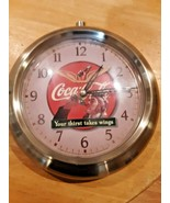 Coca Cola  Wall Clock 1999  *Your thirst takes wings * - $39.59