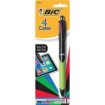 BIC 4-Color Grip Ballpoint Pen with Stylus, Medium Point (1.0mm), Assort... - $11.00