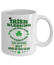 St Patrick Day Coffee Mugs, St Patrick Day Cup - Irish Day Coffee Cup 11oz White - $14.95