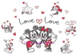 "Disney's Mickey and Minnie Mouse Valentines ""Lo... - $11.88"