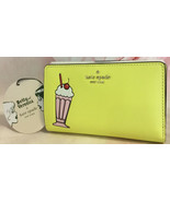 KATE SPADE NEW YELLOW ARCHIE COMICS BIFOLD WALLET MILKSHAKE BETTY AND VERONICA - $110.00