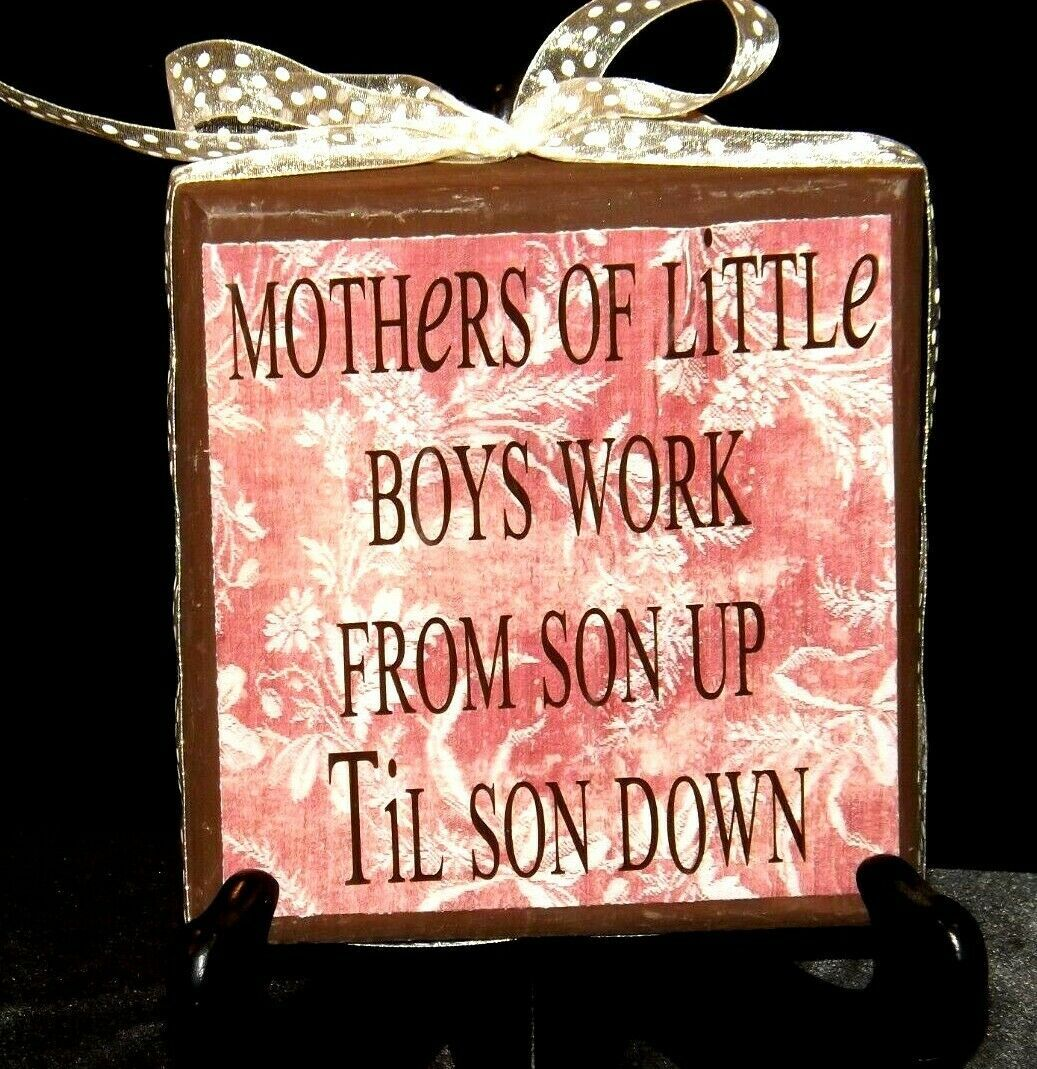Handmade Plaque with Stand AA19-1689 Vintage