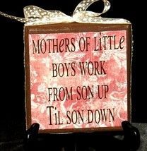 Handmade Plaque with Stand AA19-1689 Vintage image 1