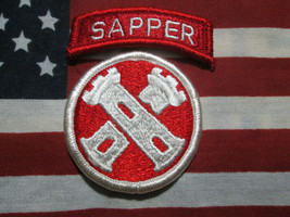 US Army 16th Combat Engineer Brigade Sapper Tab Color Dress Uniform Patch m/e - $7.00