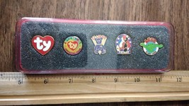 Boxed set of 5 TY collectible Beanie Baby pins  (with Legs) - $4.99