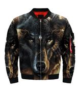 Hot Sale!! 2019 Bomber jacket Cool motorcycle wolf jacket  size S-5XL - $81.99