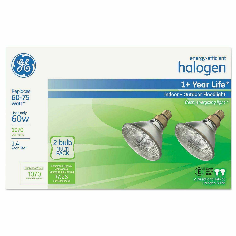 GE Energy-Efficient Halogen 60 Watt PAR38 Floodlight - 2PK ( GEL66280 )