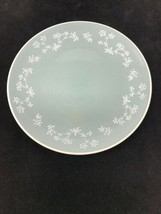 """Royal Doulton Queenslace England 8.25"""" Plate Blue Teal White Flower D 6447 - $9.90"""