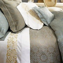 Sferra Chadwick Blue Queen Coverlet 100% Egyptian Cotton Matelasse Italy  NEW   $275.00