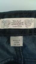 Nine West Vintage American Black Paisly Jeans Size 16/33 ABLS110 - $12.87