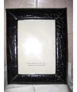 Black Leather Emb Alligator Emb Pic Frame Helene Batoff - $24.99