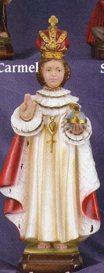 Infant of prague 12 inch decorated statue