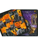 Scaredy Cat Halloween potholder, handmade quilt... - $9.99