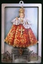 Infant of Prague - 3D Wood Lazar Cut Plaque