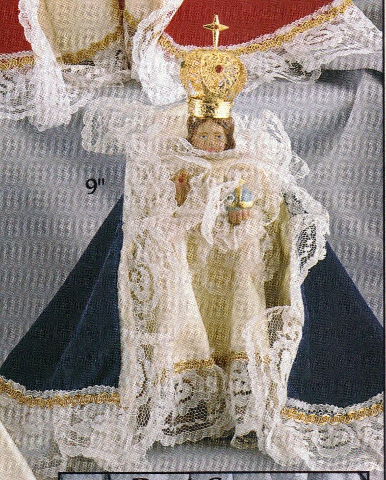 Infant of prague 9 inch velvet statue